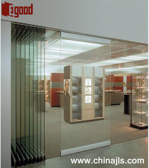 Paired sliding folding glass partition wall buy sliding for Sliding glass wall price