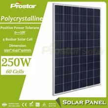 Best Quality poly 250w 260w polysilicon solar panel 30V for projects Polycrystalline Solar Panel