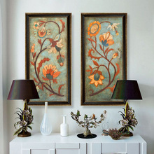 Cheap Price Factory Sale The Beautiful Picture Of Flower 2 Panels Canvas Oil Painting Wall Art