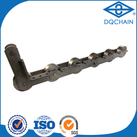 Environmental carbon double-strand conveyor chain,anti skipping transmission conveyor chains/belt chains for shushi bottle w