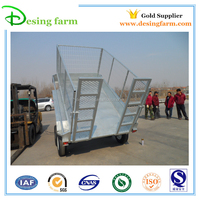 Galvanized 8x5 cylinder tipping trailer for sale