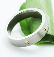 fashion simplicity titanium silver 316l stainless steel rings