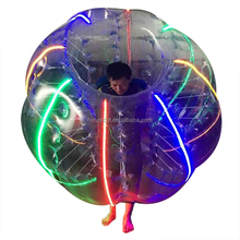 HI competitive 0.8mm PVC Dia 1.5m led light inflatable body adult bumper ball for sale