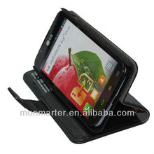 Wholesale flip PU leather cover case For LG Optimus L7 II Dual P715