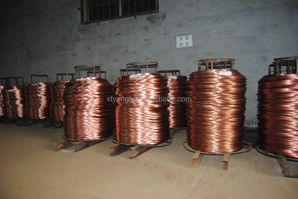 Bare copper wire /no coating and insulation copper wire/naked bright round copper wire for electric Dia 0.40mm-8.0mm