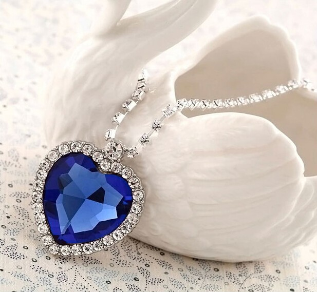MYLOVE The Heart of the Ocean necklace crystal Titanic <strong>jewelry</strong> 4*3.5CM MJ-53