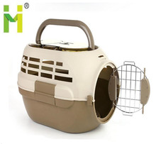 plastic dog crate kennel portable pet carrier with water dispenser