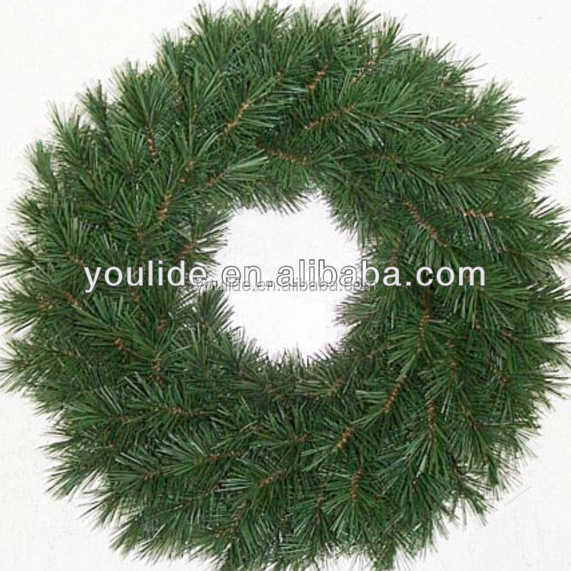 Wholesale artificial decorative green christmas wreaths,christmas wreath