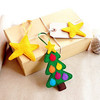 Hot new products alibaba china fabric bulk handmade felt diy pine tree star hanging merry christmas messages and happy new year