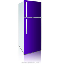 2016 NEW MODEL big size glass door refrigerator 490L gas double door refrigerator with inside or outside evaporator optional