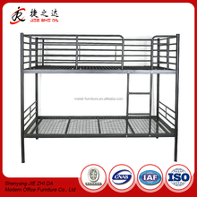 JZD Furniture Knock-down Structure Easy Assembly Metal Double Bunk Bed