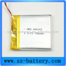 750mAh battery manufacturer 3.7v rechargeable li ion 444143