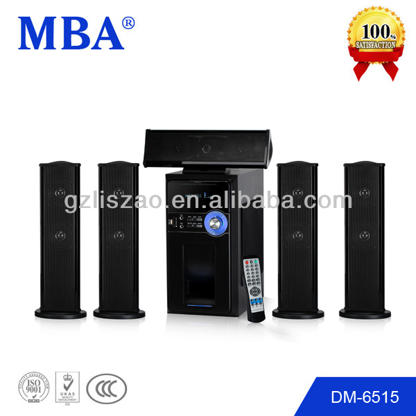 Professional active Multimedia 5.1 surround home theatre audio system