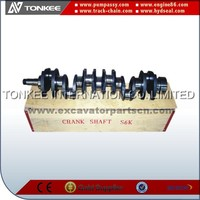 S6K mitsubishi crankshaft for E320 hydraulic excavator engine parts
