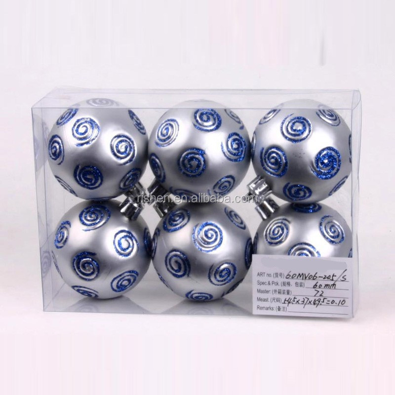 wholesale silver plastic christmas ball popular xmas silk ball ornament