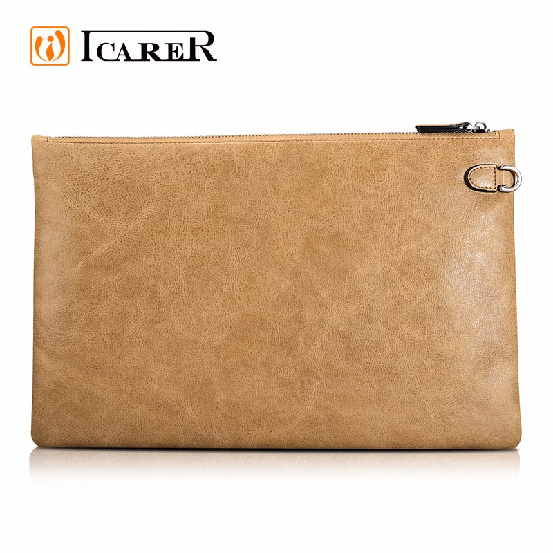 ICARER Shenzhou Genuine Leather Laptop Zipper Sleeve for ipad Mini/Mini 4