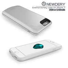 Battery pack cell phone case ABS+TPU wireless charger case for iPhone 7 business industrial