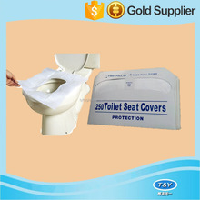 Disposable travel pack toilet seat cover with 1/16 folding