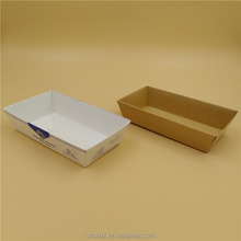 Quality clear window brown cardboard cake box packaging