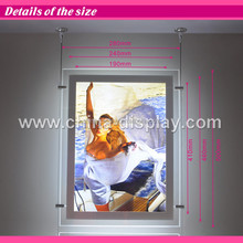 High quality advertising acrylic profile led hanging system for acryl
