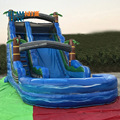 2018 giant inflatable water slide with pool for adult