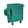 small metal commercial utility cart
