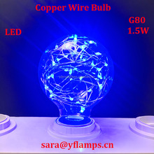 Blue Christmas lighting Copper Wire Colorful LED Bulb E27 G125,G95,G80 Star Bulb