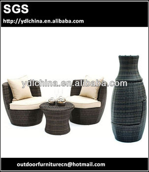 aluminium frame rattan wicker outdoor garden set