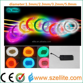 2016 high brightness flexible multi colour decorative lighting el wire