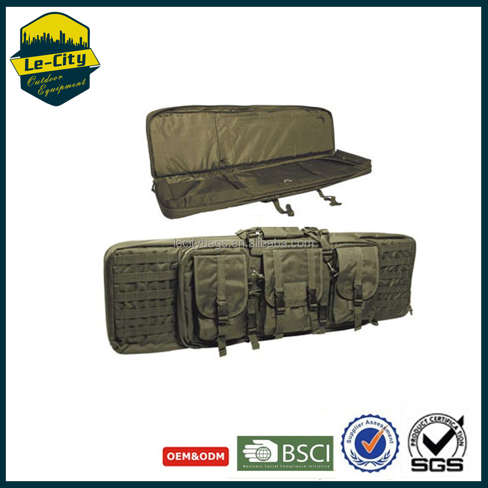 Outdoor Equipment Shoulder Carrying Compression straps Portable tactical Gun case Bag For Men