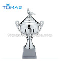 Big metal silver plated trophy