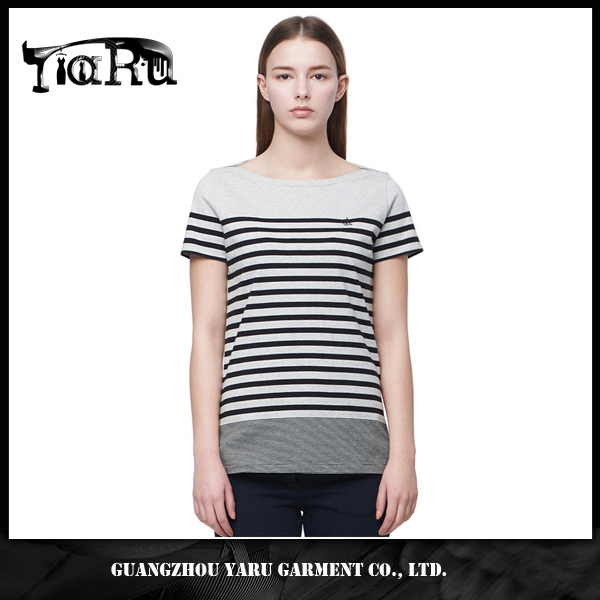 Fashion Summer Women's Striped Printed Blouse Short T-Shirt Tops