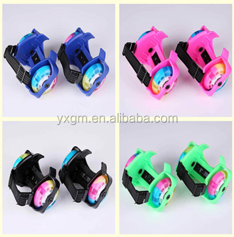 2016 whole sale 2 LED wheels roller blades