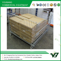 2015 hot sell galvanize collapsible warehouse storage cage wire mesh (YB-K003)