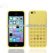 colorful polka dot design soft case for iphone 5c,for apple iphone 5c silicon case