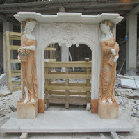 Hot Selling Antique Marble Stone Carved Fireplaces Mantels