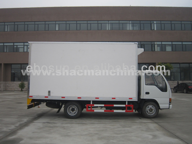 Chinese Box Van Truck/refrigerated van truck