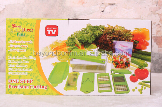 One step precision cutting Dicer Plus/ Plastic Fruit And Vegetable Multi Grater set
