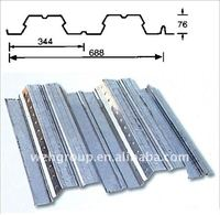 YX76-344-688 type zinc corrugated steel roofing sheets/tiles/bearing plate from china manufacturer