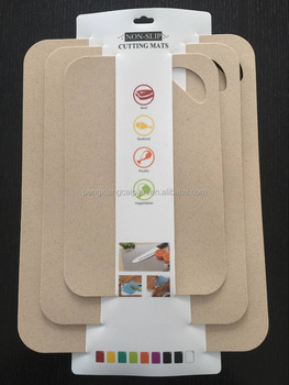 anti-slip wheat straw cutting board set