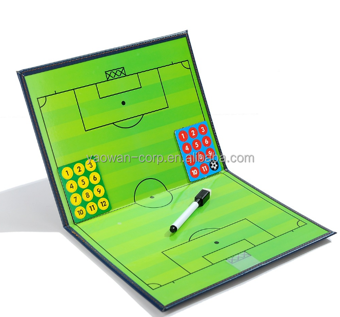 foldable magnetic football soccer teaching coach tactics board with pen