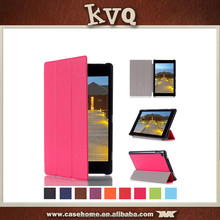 In stock China manufacturer top quality flip leather cover for kindle new fire HD10