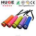 Colorful plastic portable LED zoom flashlight torch