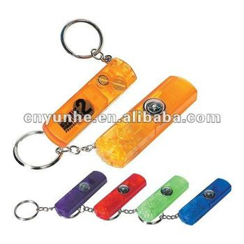 Whistle Light and Compass LED Keychain keyring tag holder buckle ---- Many designs Factory directly