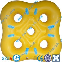 Commercial Waterpark Best plastic float tube twin swimming ring aquatic equipment