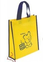 Custom print non woven bag with one color print MOQ 1000Pcs eco shopping fabric bag wholesale