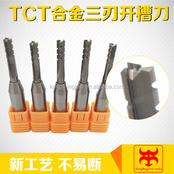 CNC three-flute TCT router bit for hardwood and MDF