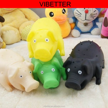 TOY-022 Venting toy shrilling Pig 2016 lovely animals rubber toy pig, vinyl toys pig set With shrieks