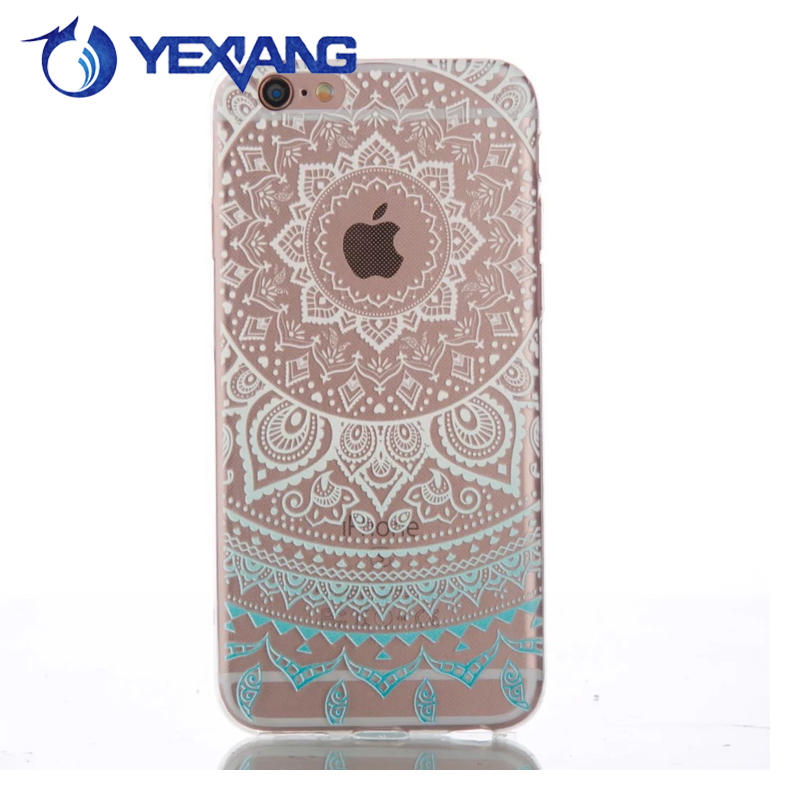 Crystal clear flower patterns soft tpu back case tpu case for huawei p8 lite,mobile phone shell