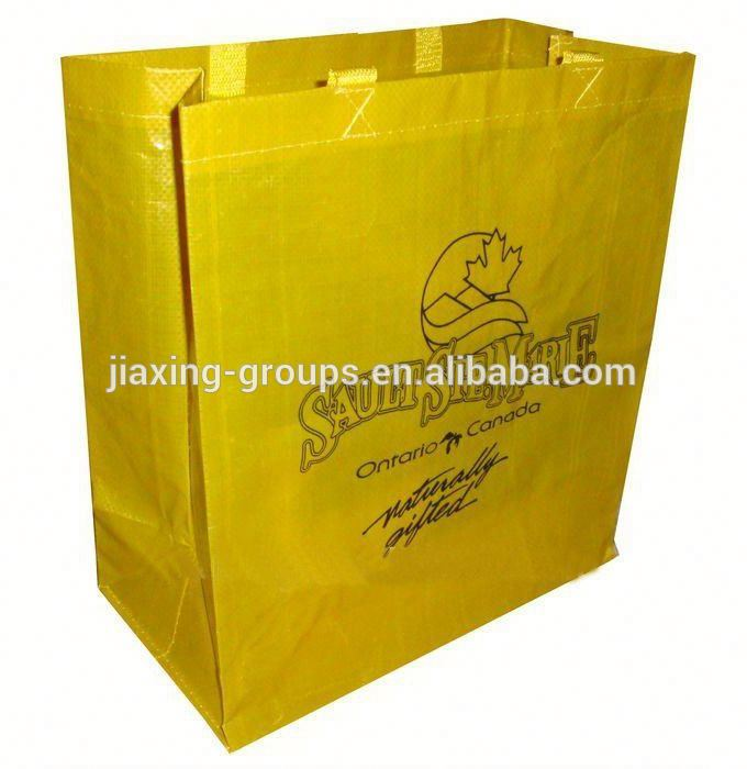 Cheapest pp woven shopping tote bag laminated with high quality,OEM orders arewelcome